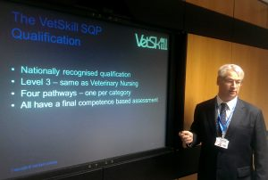 Leslie Heaton-Smith speaking at the conference about the new VetSkill SQP qualification which will be available in 2017.